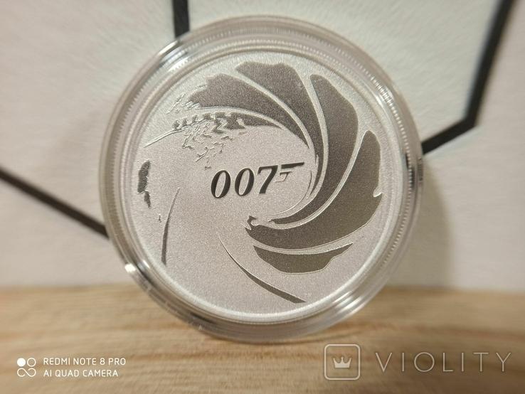 Срібна монета Tuvalu 1 James Bond 007 2020 р., фото №2