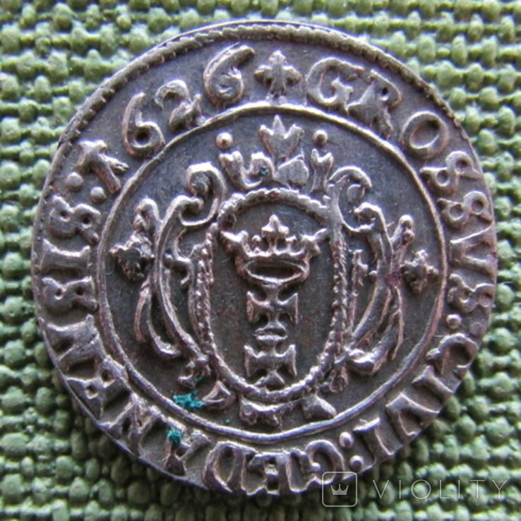 Гданьский грош 1626 года., фото №5