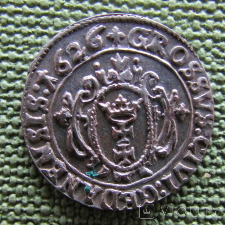 Гданьский грош 1626 года., фото №6