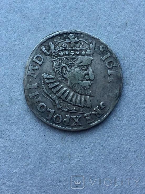 3 гроша Сигизмунд III Ваза 1595 года, фото №6