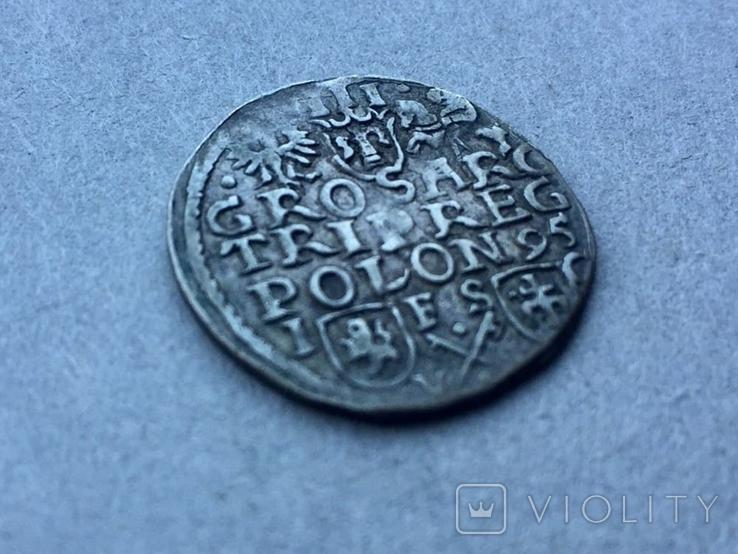 3 гроша Сигизмунд III Ваза 1595 года, фото №2
