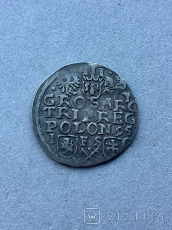 3 гроша Сигизмунд III Ваза 1595 года, фото №8