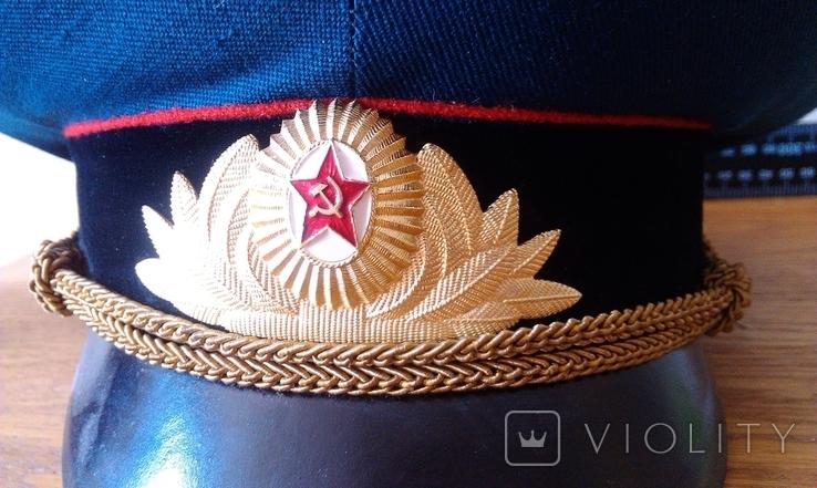 Фуражка парадная офицера танковых войск, фото №2
