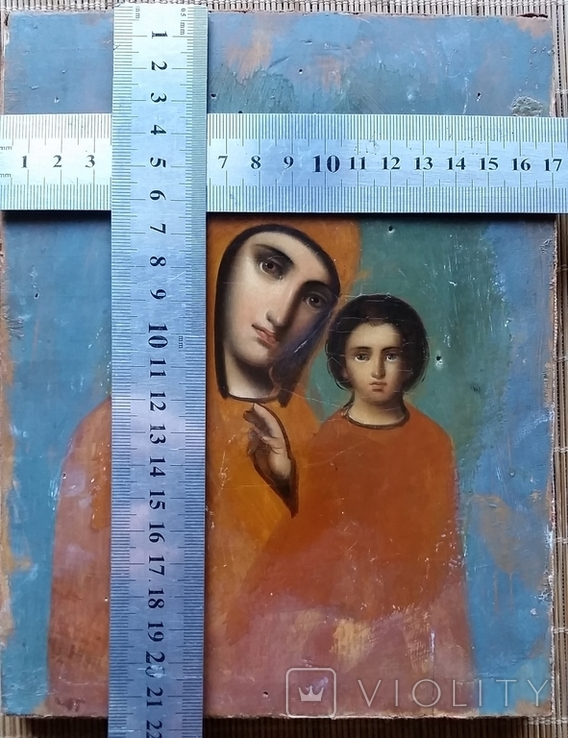 Ікона Казанська Богородиця, 21,8х17,2 см, фото №2