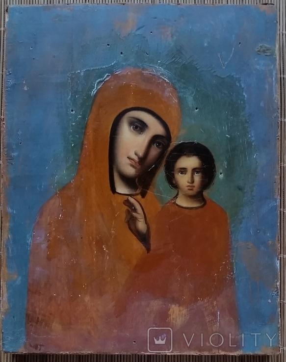 Ікона Казанська Богородиця, 21,8х17,2 см, фото №3