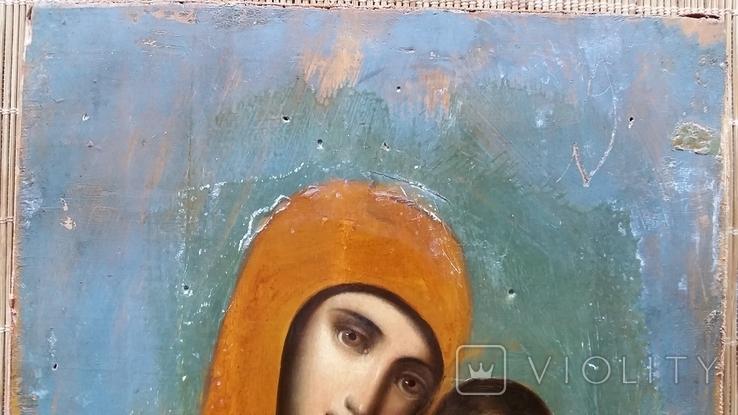 Ікона Казанська Богородиця, 21,8х17,2 см, фото №4