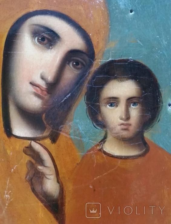 Ікона Казанська Богородиця, 21,8х17,2 см, фото №7