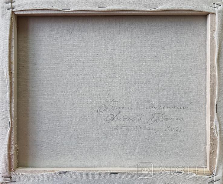 Картина, Белые тюльпаны, 25х30 см. Живопись на холсте, фото №7