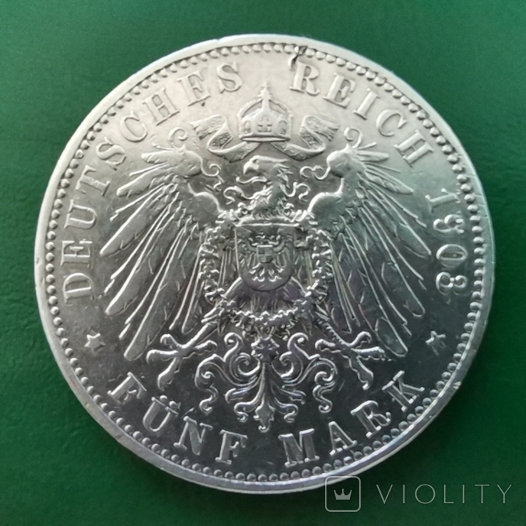 5 марок 1903 р.В Пруссия, фото №2