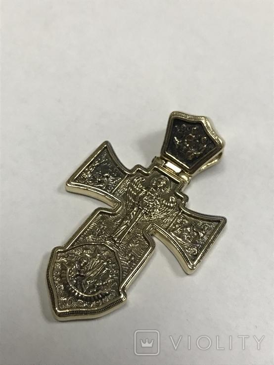 Золотой крест 585, фото №3