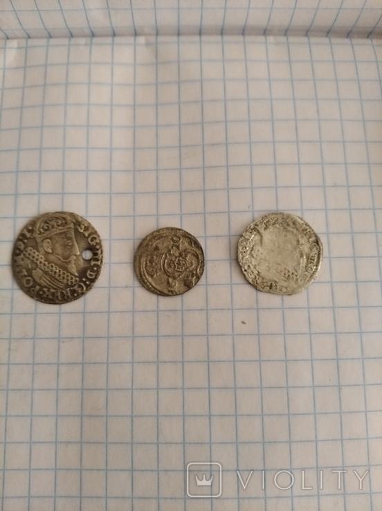 Монети(трояк,дводенарій лит.,грош лит.), фото №2