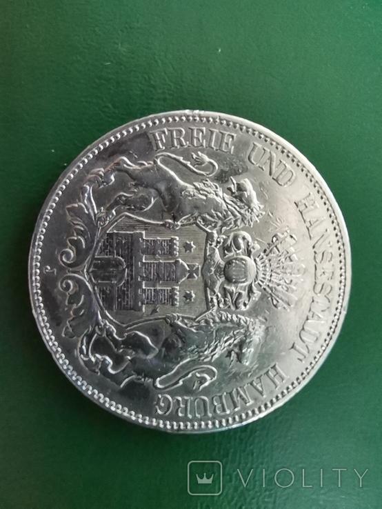 5 марок 1902р.Гамбург, фото №3