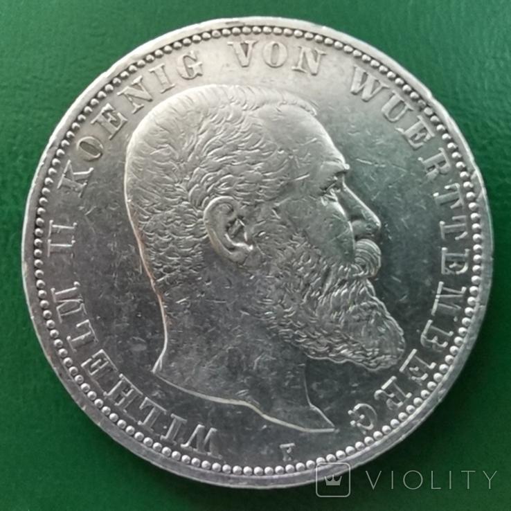 5 марок Вюртемберга 1913р., фото №3