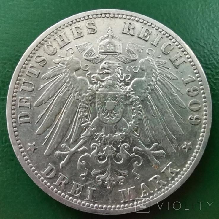3 марки Пруссія 1909 г., фото №2
