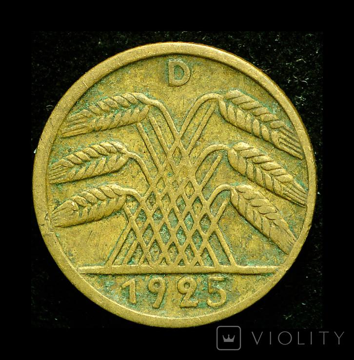 Германия 5 пфеннигов 1925 D, фото №2