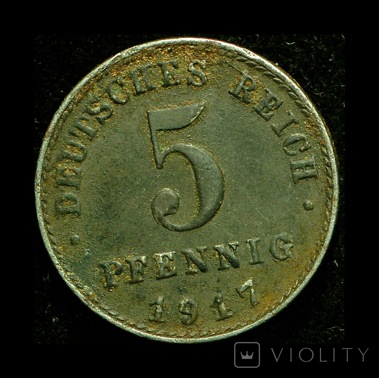 Германия 5 пфеннигов 1917, фото №2