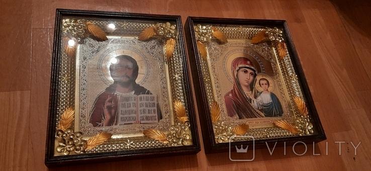 Иконы: Божья Матерь Казанская + Иисус - Спаситель, фото №3