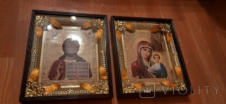 Иконы: Божья Матерь Казанская + Иисус - Спаситель, фото №4