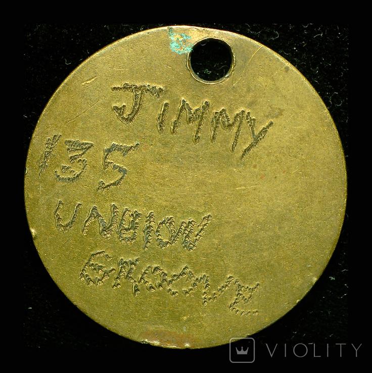 Великобритания солдатский жетон 1МВ, фото №2