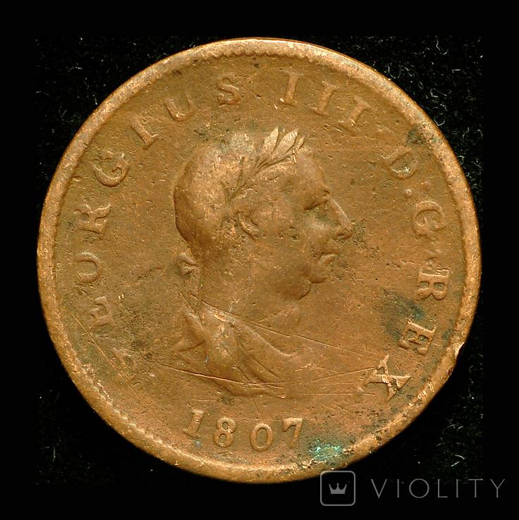 Великобритания 1/2 пенни 1807, фото №2