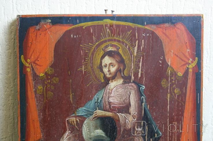 Спаситель на троне 35х27, фото №4