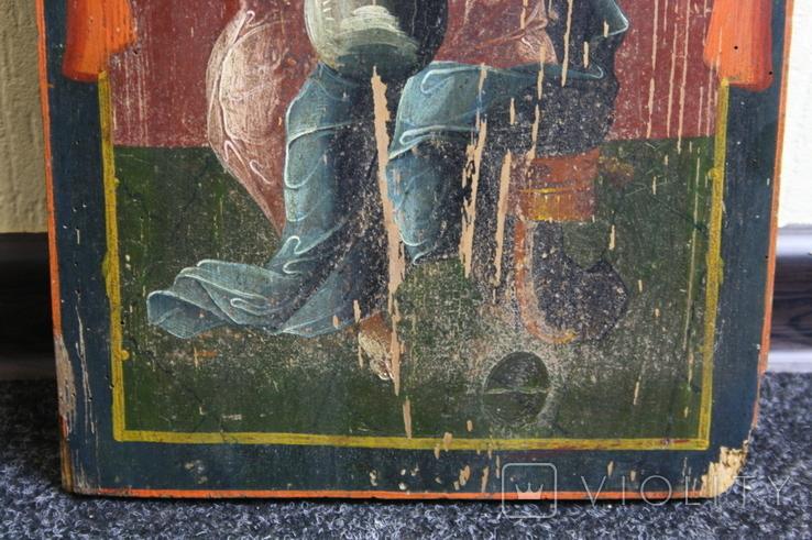 Спаситель на троне 35х27, фото №5