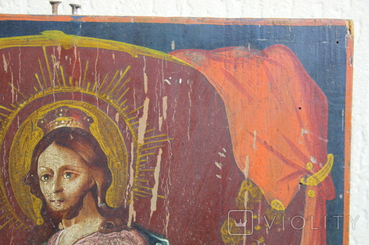 Спаситель на троне 35х27, фото №6