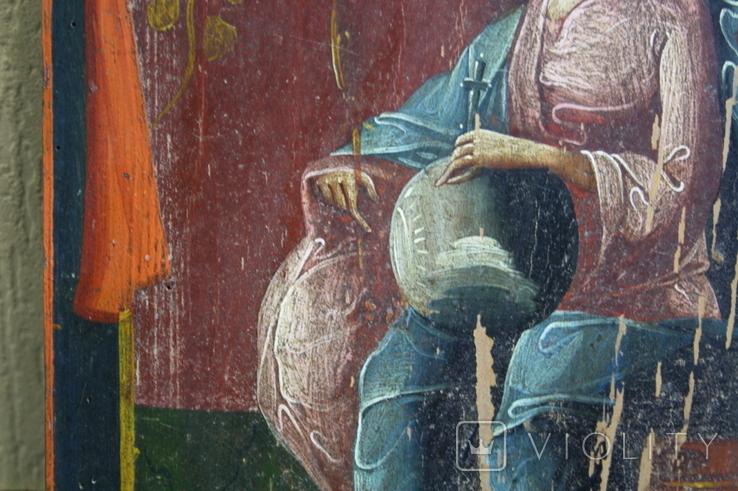 Спаситель на троне 35х27, фото №10