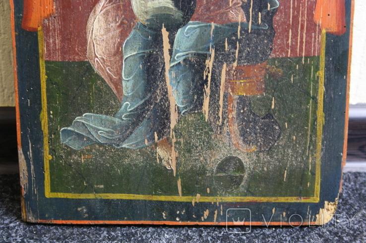 Спаситель на троне 35х27, фото №11