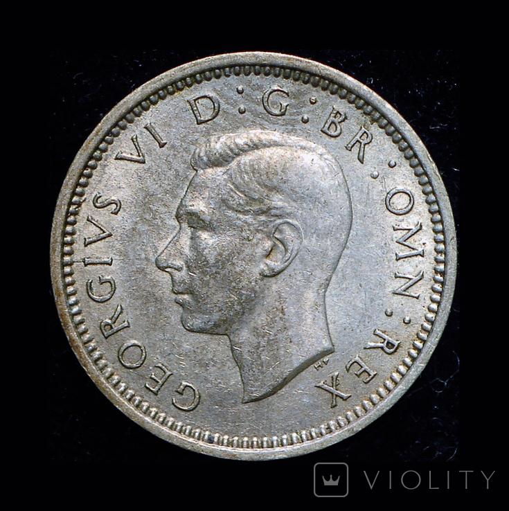 Великобритания 3 пенса 1941 серебро, фото №3