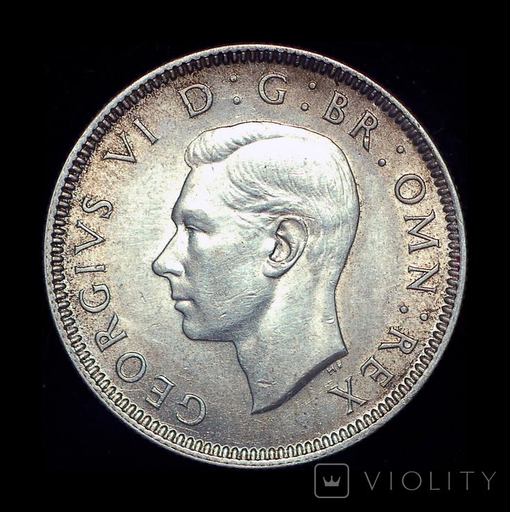 Великобритания шиллинг 1938  серебро шотландский, фото №4