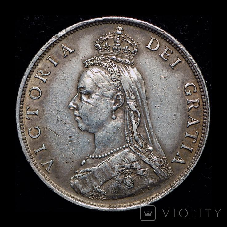 Великобритания флорин 1887 серебро, фото №3