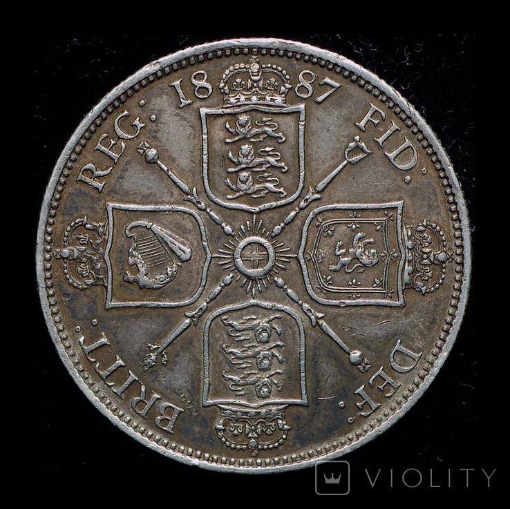 Великобритания флорин 1887 серебро, фото №2
