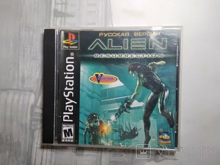 Игры диски Пс1 Playstation 1 one alien resurrection, фото №2