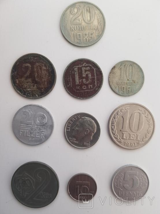 Монеты разные одним лотом, фото №2
