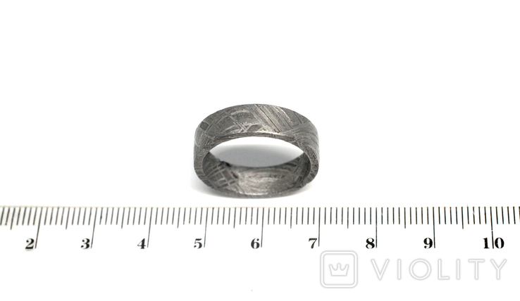Каблучка із залізного метеорита Muonionalusta, з сертифікатом автентичності, фото №4