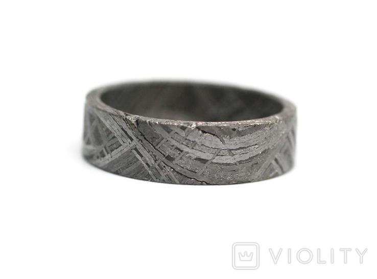 Каблучка із залізного метеорита Muonionalusta, з сертифікатом автентичності, фото №9