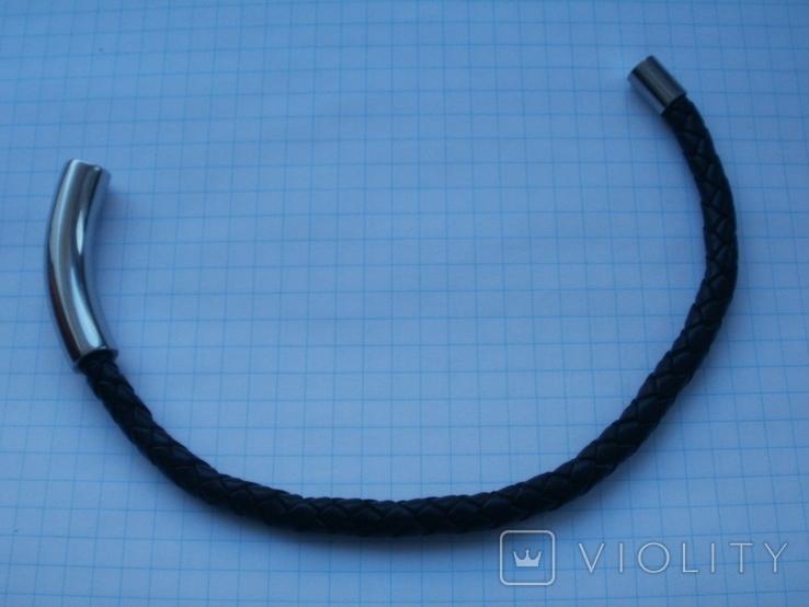 Мужской кожаный браслет Liora., фото №10