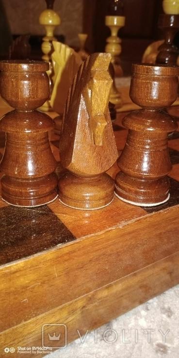 Шахматы СССР большие, 60х60, с утяжелением купюры, фото №5