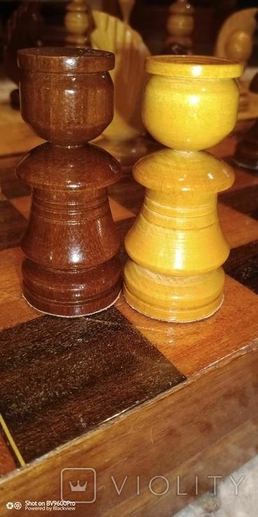 Шахматы СССР большие, 60х60, с утяжелением купюры, фото №6