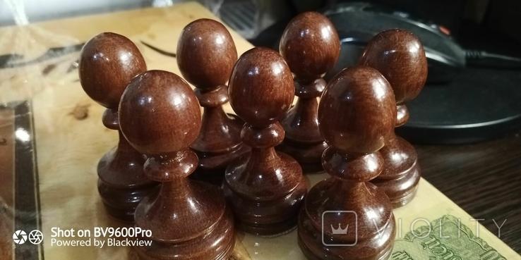 Шахматы СССР большие, 60х60, с утяжелением купюры, фото №7