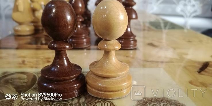 Шахматы СССР большие, 60х60, с утяжелением купюры, фото №9