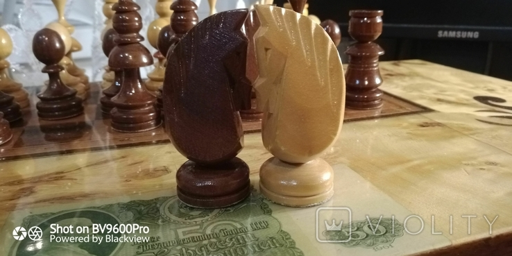 Шахматы СССР большие, 60х60, с утяжелением купюры, фото №12