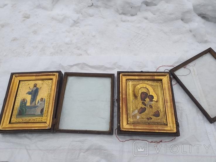 Пара Икон Воскресенье Христово и Богородица, фото №3