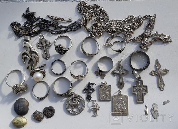 Серебряные изделия, 107 грамм., фото №4