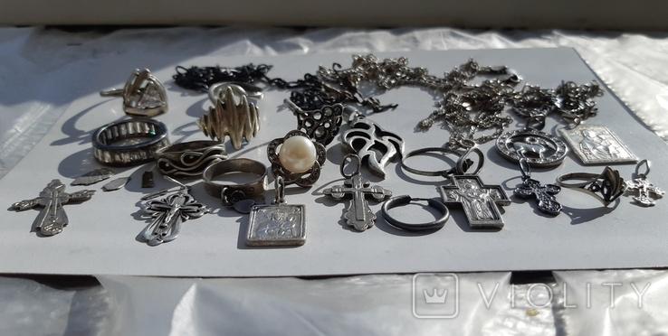 Серебряные изделия, 107 грамм., фото №8