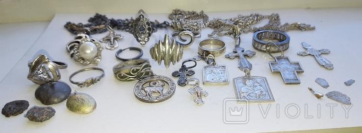 Серебряные изделия, 107 грамм., фото №11