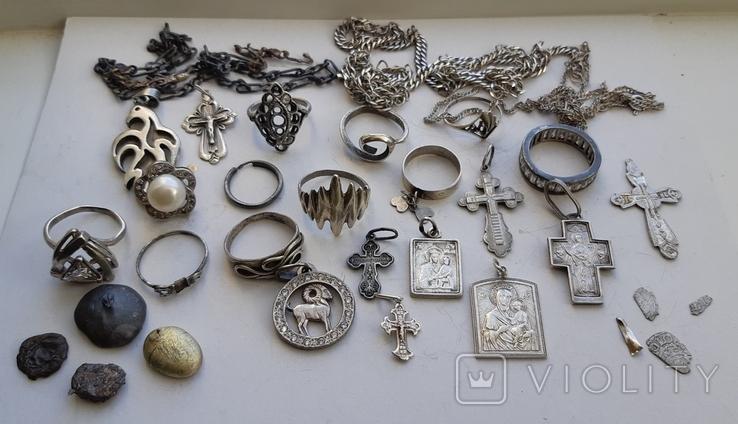 Серебряные изделия, 107 грамм., фото №12
