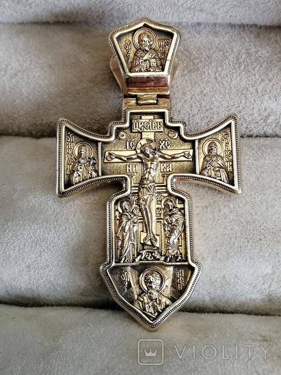Крест Православный 585, фото №2