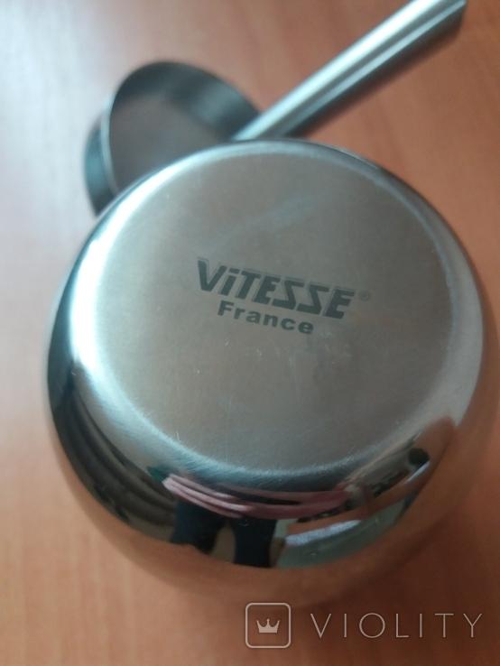 Сахарница с дозатором Vitesse France 0.4L нерж., фото №6